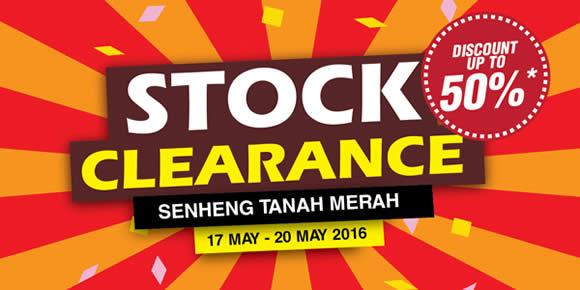 c004abb7cdb Senheng Tanah Merah Stock Clearance Sale from 17 – 20 May 2016