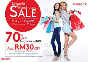 Featured image for Triumph Lingerie Warehouse Sale at KL Sogo from 27 May – 5 Jun 2016