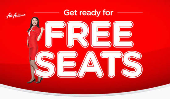 Featured image for Air Asia: Free Seats Promotion from 4 - 11 Sep 2016