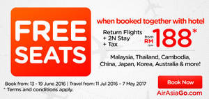 Featured image for Air Asia Go fr RM188/pax (Hotel + 2N Stay + Tax) Book Hotel & Get FREE Flight Promo from 13 – 19 Jun 2016