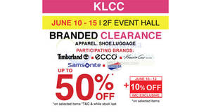 Featured image for Isetan Branded Clearance Timberland, Ecco, Samsonite & More at KLCC from 10 – 15 Jun 2016