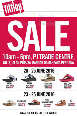 Featured image for FitFlop Sale at PJ Trade Centre from 20 – 25 Jun 2016