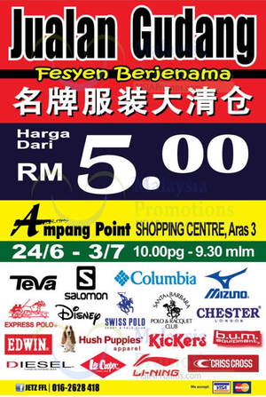 Featured image for Jetz FFL Raya Branded Sale at Ampang Point from 24 Jun – 3 Jul 2016