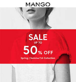 Featured image for Mango Sale up to 50% Off from 16 Jun 2016