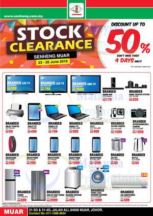 Featured image for Senheng Muar Stock Clearance Sales at Johor from 23 – 26 Jun 2016