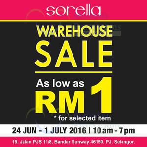 Featured image for Sorella Lingerie Warehouse Sale at Petaling Jaya from 24 Jun – 1 Jul 2016