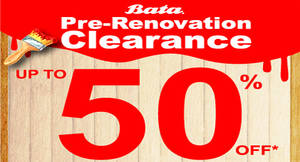 Featured image for BATA: Pre-Renovation Clearance – Up to 50% Off at Mid Valley Megamall from 20 Jul – 14 Aug 2016