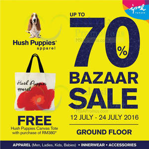 Featured image for Hush Puppies Apparels: Bazaar at Ipoh Parade from 12 – 24 Jul 2016