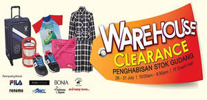 Featured image for KL Sogo: Warehouse Clearance Sale – Up To 80% Off from 28 – 31 Jul 2016