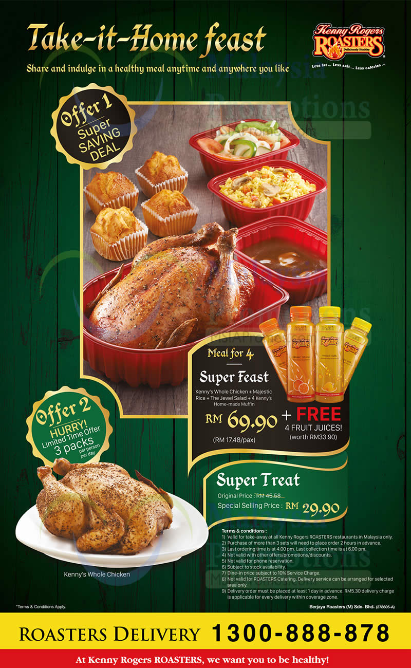 Kenny Rogers Roasters Rm 29 90 Kenny S Whole Chicken Promo From 6 Jun 2016