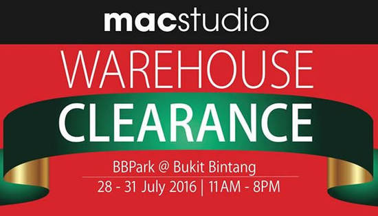 Macstudio Warehouse Clearance Feat 28 Jul 2016