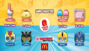 Featured image for McDonald's: Sanrio Character & Transformer Mask w/ Happy Meal from 28 Jul – 24 Aug 2016