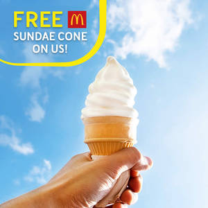 Featured image for McDonald's: Free Vanilla Sundae Cone for Digi Subscribers from 22 – 24 Jul 2016