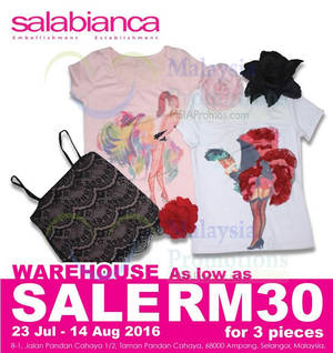 Featured image for Salabianca, Philosophy Men & Graffi Tee: Warehouse Clearance Sale at Ampang Selangor from 23 Jul – 14 Aug 2016
