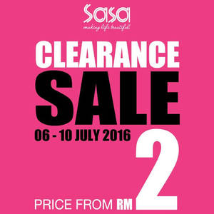 Featured image for Sasa Clearance Sale at Ipoh from 6 – 10 Jul 2016