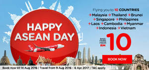 Featured image for Air Asia: Fares fr RM10 to over 70 Destinations from 8 – 14 Aug 2016