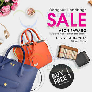 Featured image for Celebrity Wearhouz: Designer Bags Sale at Aeon Rawang from 18 – 21 Aug 2016