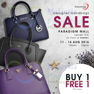 Featured image for Celebrity Wearhouz: Designer Bags Sale at Paradigm Mall from 11 – 14 Aug 2016
