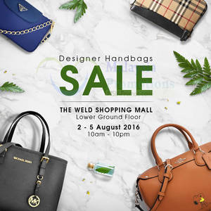 Featured image for Celebrity Wearhouz: Designer Bags Sale at The Weld from 2 – 5 Aug 2016