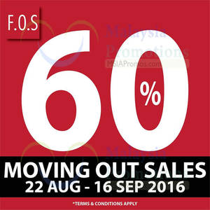 Featured image for F.O.S: Up to 60% Off Clearance at Viva Mall from 22 Aug – 16 Sep 2016