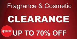 Featured image for KL SOGO: Branded Fragrance & Cosmetic Clearance Sale from 25 – 28 Aug 2016