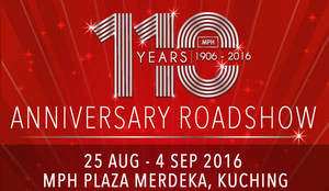 Featured image for MPH: 110th Anniversary 20% Off Storewide Roadshows at Selected Outlets from 26 Aug – 4 Sep 2016