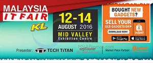 Featured image for Malaysia IT Fair at Mid Valley Exhibition Centre from 12 – 14 Aug 2016