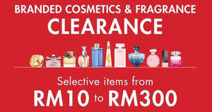 Featured image for Parkson: Branded Cosmetics & Fragrance Clearance at Fahrenheit 88 from 4 – 6 Aug 2016