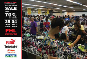 Featured image for Sport Planet: Off Season Sale at PHL Convention Centre Ipoh from 25 Aug – 4 Sep 2016