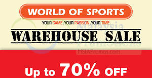 Featured image for World Of Sports: Warehouse Sale at Hotel Sri Petaling from 12 – 21 Aug 2016