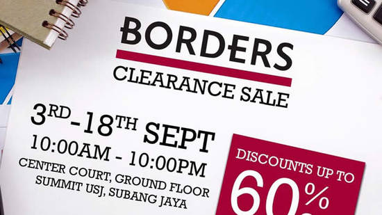 Borders Clearance Sale Feat 10 Sep 2016