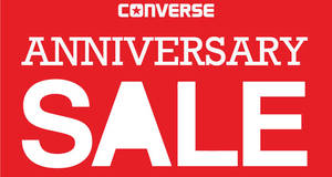 f64b7573aff722 Converse  50% Off 2nd Pair Anniversary Sale from 30 Sep – 2 Oct 2016