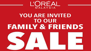 Featured image for L'Oreal: Family & Friends Sale at Berjaya Times Square from 30 Sep – 1 Oct 2016
