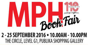 Featured image for MPH: Book Fair at Publika Shopping Gallery from 2 – 25 Sep 2016