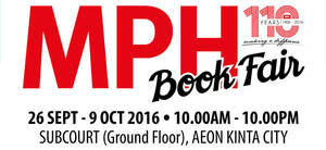 Featured image for MPH Book Fair at AEON Kinta City Perak from 26 Sep – 9 Oct 2016