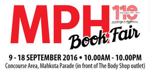 Featured image for MPH: Book Fair at Mahkota Parade Melaka from 9 – 18 Sep 2016