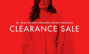 Featured image for MS. Read: Fr RM19 Clearance Sale at Dataran Pahlawan Melaka Megamall from 15 – 18 Sep 2016