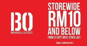 Featured image for Padini Brands Outlet: RM10 & Below Clearance Sale at IOI Mall Puchong from 23 Sep – 3 Oct 2016