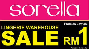 Featured image for Sorella Lingerie: Warehouse Sale at Evolve Concept Mall from 9 – 18 Sep 2016