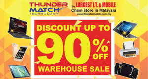Featured image for Thunder Match Technology: Warehouse Sale at Berjaya Mall, Kuantan, Pahang from 20 – 23 Oct 2016