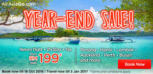 Featured image for Air Asia Go: Fr RM199/pax (Hotel + 2N Stay + Tax) Packages Promo from 10 – 16 Oct 2016