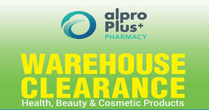 Featured image for Alpro Plus Pharmacy Warehouse Clearance w/ Up to 80% Off at Jaya 33 from 3 – 6 Nov 2016