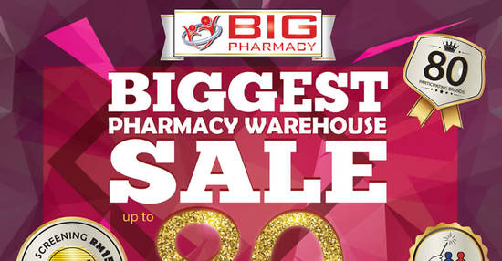Featured image for Big Pharmacy: Warehouse Sale w/ Up to 80% Off at Summit Subang USJ from 25 - 27 Nov 2016