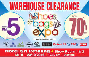 Featured image for Jetz: Shoes & Bags Expo – Up to 70% Off at Hotel Sri Petaling from 15 – 23 Oct 2016