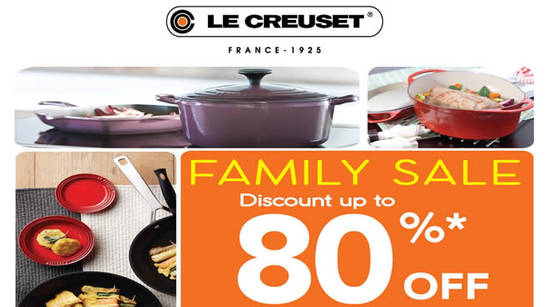 Featured image for Le Creuset up to 80% OFF Family Sale at Berjaya Times Square Hotel from 4 - 6 Oct 2019