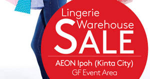Featured image for Triumph Lingerie Warehouse Sale at Aeon Ipoh (Kinta City) from 31 Oct – 6 Nov 2016