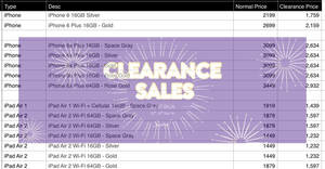 Featured image for Apple products clearance sale at Switch AEON Bukit Raja Selangor from 22 – 27 Nov 2016