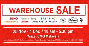 Featured image for Baby Kiko, Kiko, John Master & Schwarzenbach warehouse sale at Puchong from 25 Nov – 4 Dec 2016
