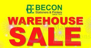 Featured image for Becon Stationery Warehouse Sale at Kota Kemuning & Taman Sentosa Klang from 10 – 13 Nov 2016