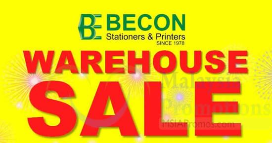Featured image for Becon Stationery Warehouse Sale at Kota Kemuning & Taman Sentosa Klang from 10 - 13 Nov 2016